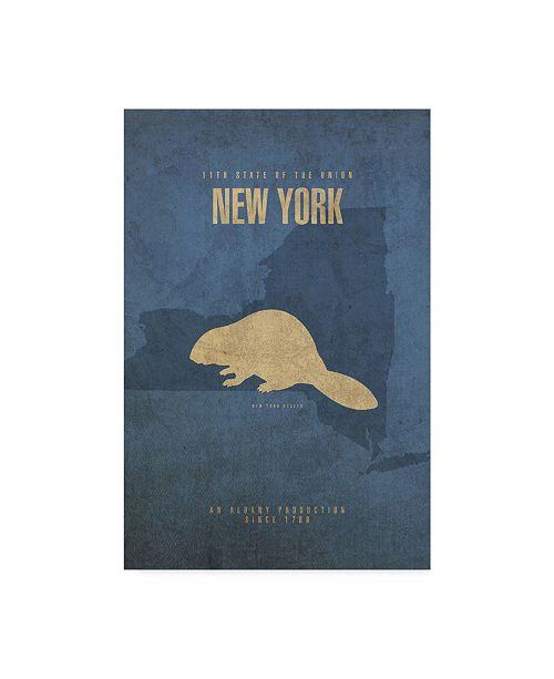 "Trademark Global Red Atlas Designs 'State Animal New York' Canvas Art - 32"" x 22"""