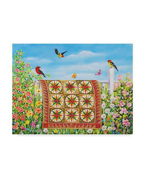 "Trademark Global Vessela G. 'New Day Quilt' Canvas Art - 32"" x 24"""