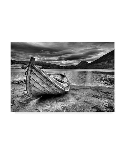 "Trademark Global Maciej Duczynski 'Mountain Rustic Norway 1' Canvas Art - 32"" x 22"""