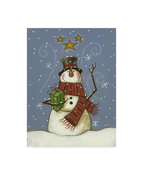 "Trademark Global Margaret Wilson 'The Snowmans Gift' Canvas Art - 35"" x 47"""