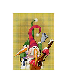 "Margaret Wilson 'Snowman Mandolin' Canvas Art - 35"" x 47"""