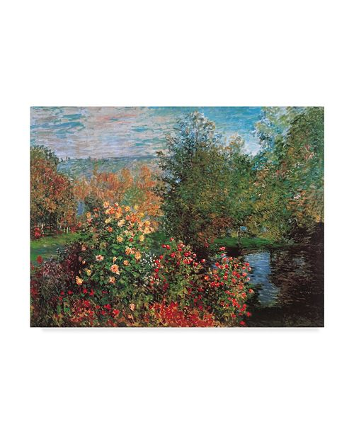 "Trademark Global Masters Collection 'Corner Of The Garden At Montgeron' Canvas Art - 47"" x 35"""