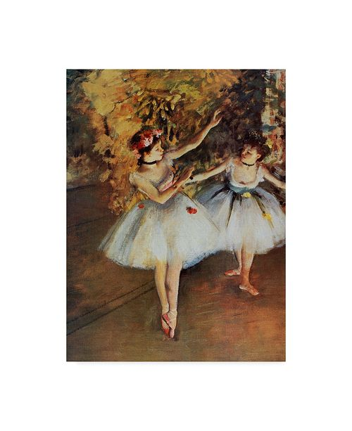 """Trademark Global Masters Collection 'Two Dancers On Stage' Canvas Art - 35"""" x 47"""""""