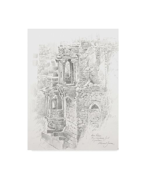"Trademark Global Michael Jackson 'Gray Architecture Drawing' Canvas Art - 35"" x 47"""