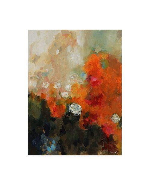 """Trademark Global Solveiga 'Garden Rose' Canvas Art - 35"""" x 47"""""""