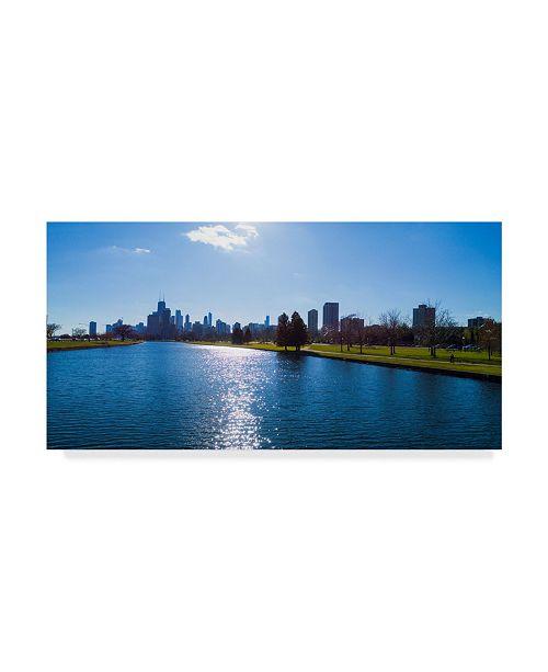 "Trademark Global Njr Photos 'Wide River' Canvas Art - 32"" x 16"""