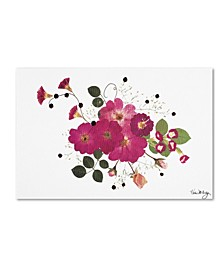 """Kathie McCurdy 'Pink Roses' Canvas Art - 24"""" x 16"""""""