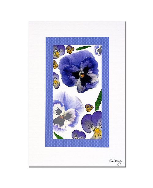 """Trademark Global Pansy Window by Kathie McCurdy Canvas Art - 24"""" x 16"""""""