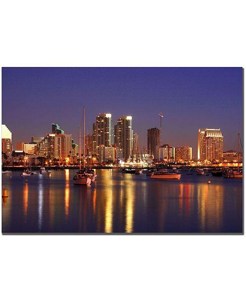 "Trademark Global Yakov Agani 'San Diego CA' Canvas Art - 32"" x 22"""