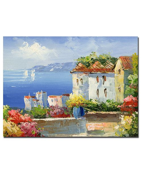 "Trademark Global Rio 'Mediterranean Villa' Canvas Art - 32"" x 26"""