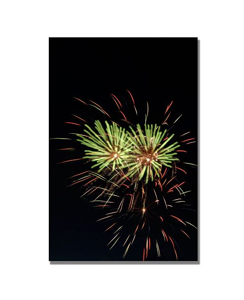 "Trademark Global Kurt Shaffer 'Abstract Fireworks 35' Canvas Art - 32"" x 22"""