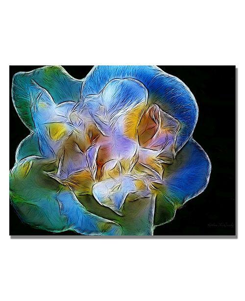 "Trademark Global Kathie McCurdy 'Big Blue Flower' Canvas Art - 24"" x 18"""