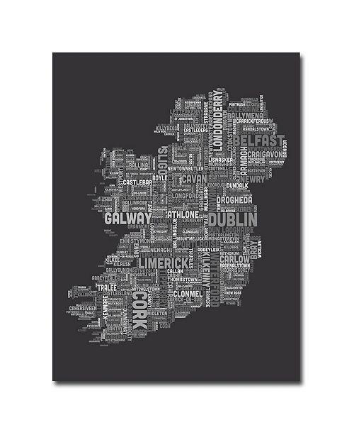 "Trademark Global Michael Tompsett 'Ireland City Map V' Canvas Art - 32"" x 24"""
