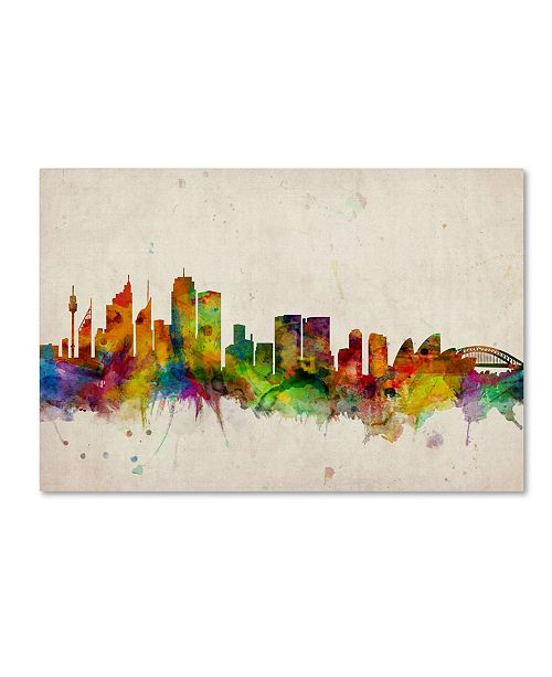 "Trademark Global Michael Tompsett 'Sydney Skyline' Canvas Art - 24"" x 16"""