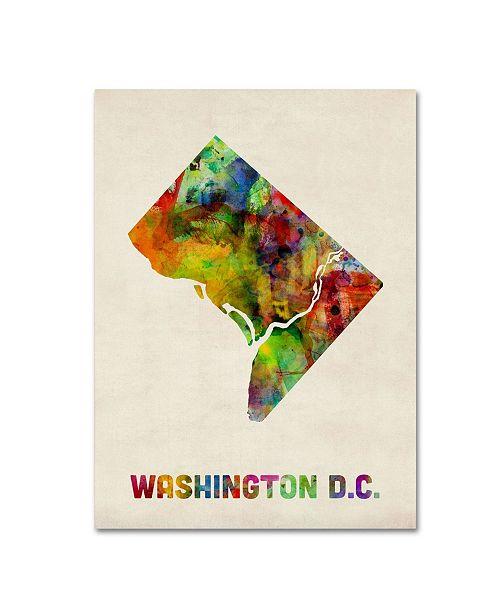 "Trademark Global Michael Tompsett 'Washington D.C. Map' Canvas Art - 24"" x 18"""