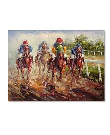 """Rio 'Kentucky Derby' Canvas Art - 32"""" x 22"""""""