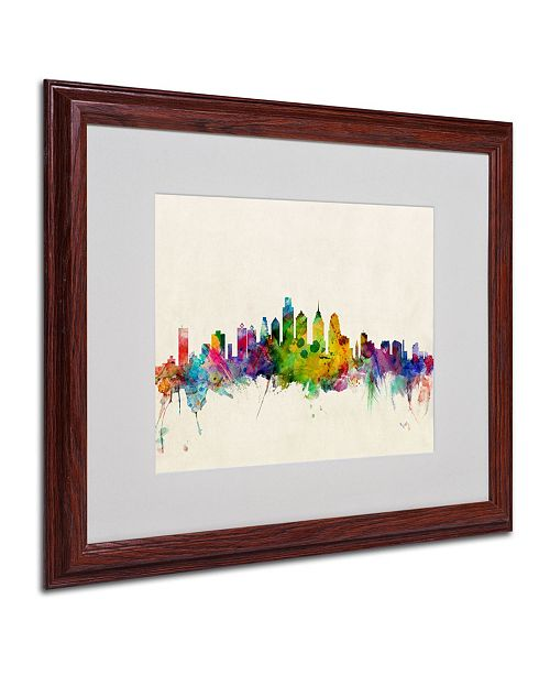 "Trademark Global Michael Tompsett 'Philadelphia, PA' Matted Framed Art - 20"" x 16"""