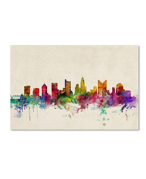 "Trademark Global Michael Tompsett 'Columbus, Ohio' Canvas Art - 24"" x 16"""