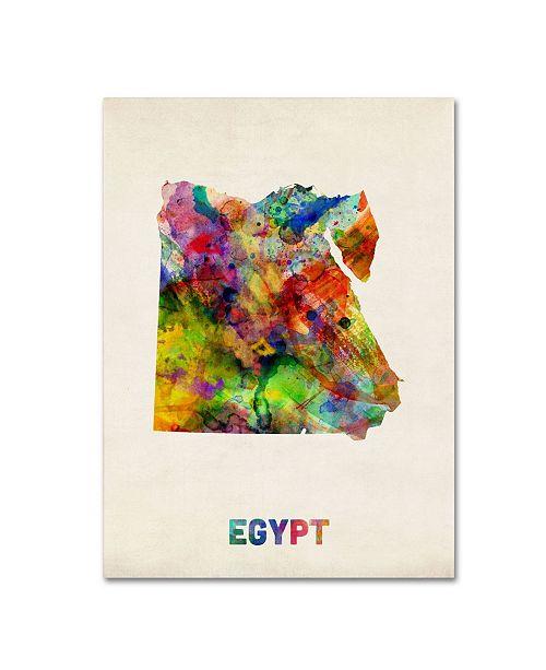 "Trademark Global Michael Tompsett 'Egypt Watercolor Map' Canvas Art - 24"" x 18"""