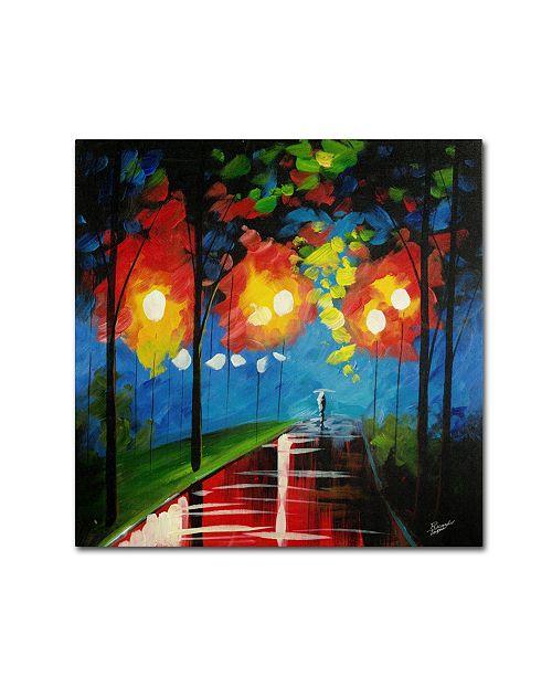 "Trademark Global Ricardo Tapia 'Night Reflection' Canvas Art - 35"" x 35"""