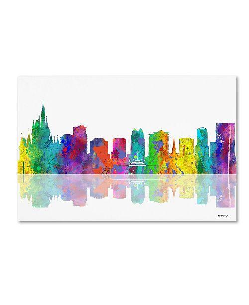 "Trademark Global Marlene Watson 'Orlando Florida Skyline' Canvas Art - 30"" x 47"""