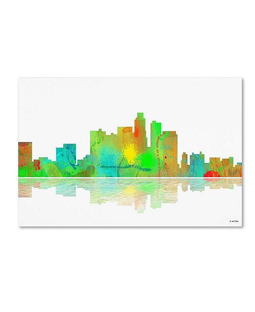"Trademark Global Marlene Watson 'Los Angeles California Skyline II' Canvas Art - 22"" x 32"""