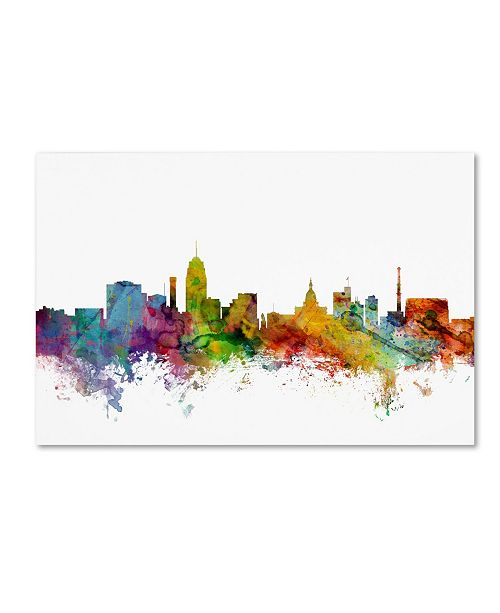 "Trademark Global Michael Tompsett 'Lansing Michigan Skyline' Canvas Art - 30"" x 47"""