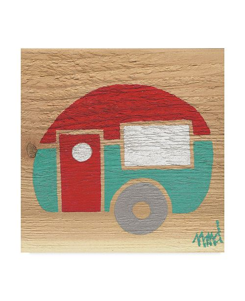 "Trademark Global Nicole Dietz 'Red Turquoise Camp' Canvas Art - 14"" x 14"""