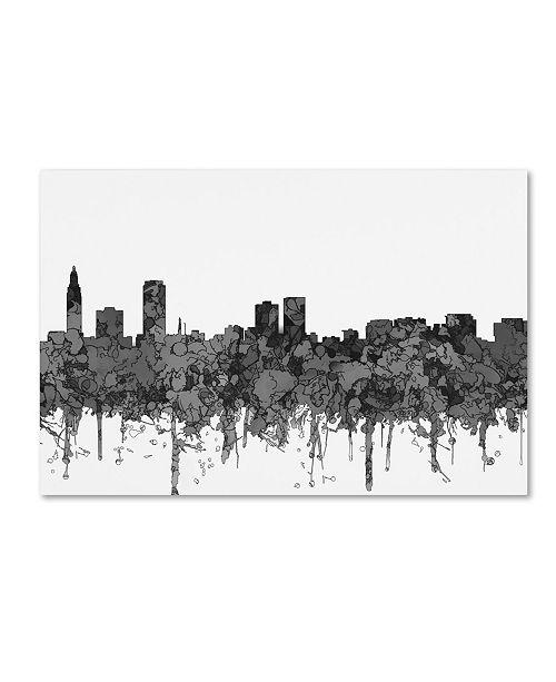 "Trademark Global Marlene Watson 'Baton Rouge Louisiana Skyline BW' Canvas Art - 12"" x 19"""