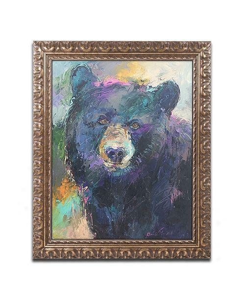 "Trademark Global Richard Wallich 'Art Bear' Ornate Framed Art - 11"" x 14"""