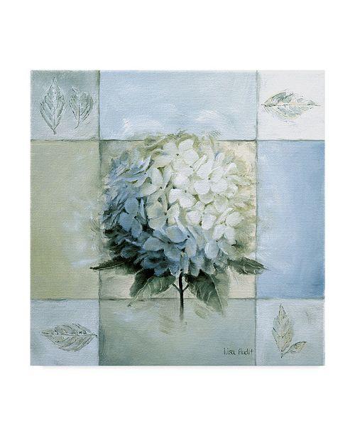 "Trademark Global Lisa Audit 'Blue Hydrangea Study 1' Canvas Art - 14"" x 14"""