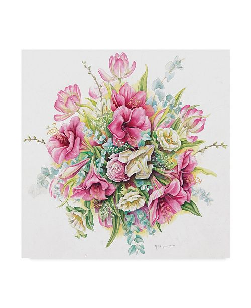 "Trademark Global Janneke Brinkman-Salentijn 'January Bouquet' Canvas Art - 14"" x 14"""