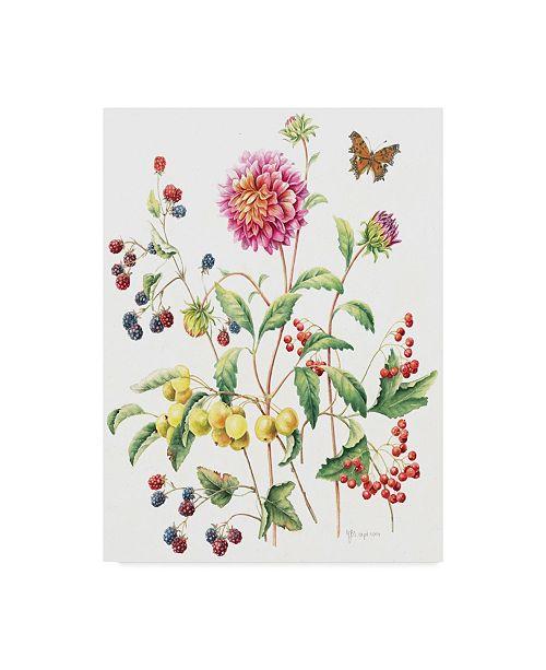 "Trademark Global Janneke Brinkman-Salentijn 'September Dahlia' Canvas Art - 14"" x 19"""