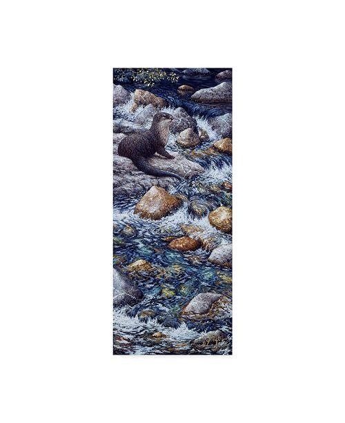 "Trademark Global Jeff Tift 'River Otter' Canvas Art - 14"" x 32"""