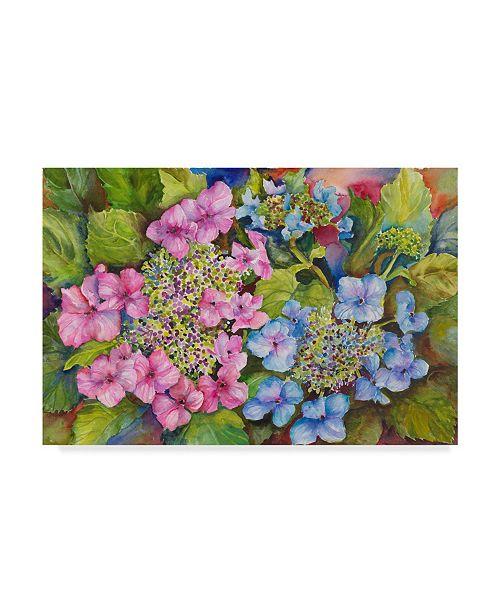 """Trademark Global Joanne Porter 'Lacy Hydrangea' Canvas Art - 12"""" x 19"""""""