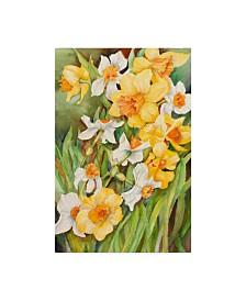 "Joanne Porter 'Early Spring Flowers' Canvas Art - 12"" x 19"""