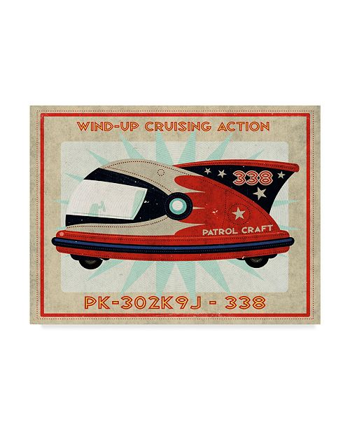 "Trademark Global John W. Golden 'Patrol Craft Red' Canvas Art - 14"" x 19"""