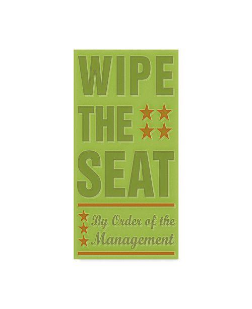 "Trademark Global John W. Golden 'Wipe The Seat' Canvas Art - 10"" x 19"""