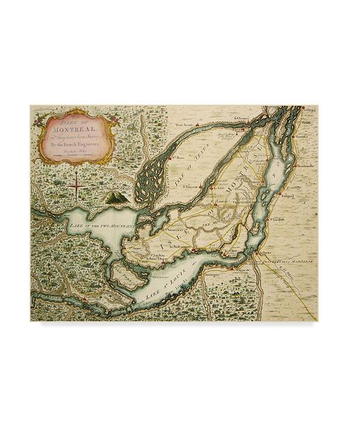 """Trademark Global Vintage Lavoie 'The Isles Of Montreal 1761' Canvas Art - 14"""" x 19"""""""