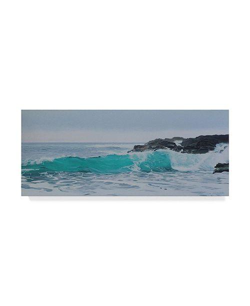 "Trademark Global Ron Parker 'Breaking Wave' Canvas Art - 10"" x 24"""