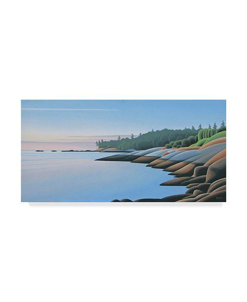 "Trademark Global Ron Parker 'Arbutus Point Dawn' Canvas Art - 10"" x 19"""
