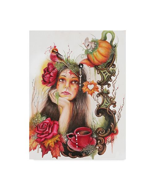 "Trademark Global Sheena Pike Art And Illustration 'Autumn Tea' Canvas Art - 14"" x 19"""