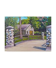 "Rusty Frentner 'Rustic Bridge' Canvas Art - 14"" x 19"""