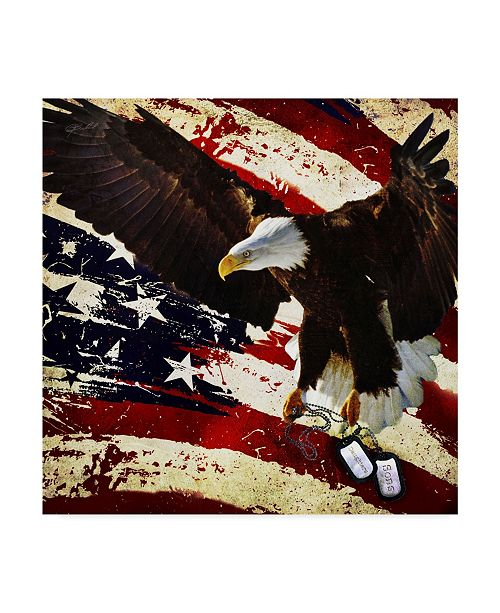 "Trademark Global Jason Bullard 'The Cost Of Freedom' Canvas Art - 14"" x 14"""