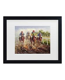 """Masters Fine Art 'Kentucky Derby' Matted Framed Art - 14"""" x 11"""""""