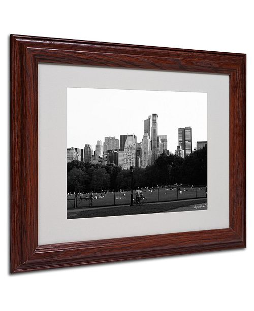 """Trademark Global Miguel Paredes 'Sheep's Meadow' Matted Framed Art - 14"""" x 11"""""""