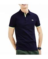8e29538ef Lacoste Men's Slim-Fit Stripe Sleeve Polo Shirt
