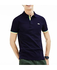 Lacoste Men's Slim-Fit Stripe Sleeve Polo Shirt