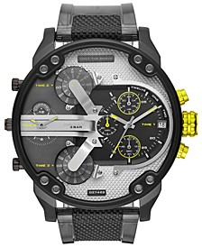 Men's Chronograph Mr. Daddy 2.0 Black & Gray Nylon Strap Watch 57mm