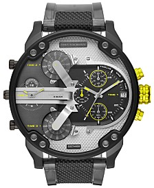 Diesel Men's Chronograph Mr. Daddy 2.0 Black & Gray Nylon Strap Watch 57mm